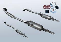 Filtres à particules diesel OPEL Astra H 1.7 CDTI (L69)